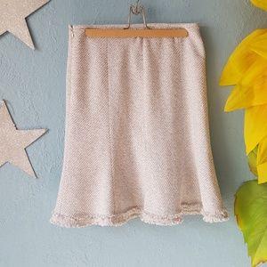 Anne Klein tweed tulip skirt size 8